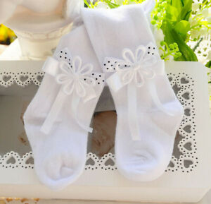 Strumpfhose Weiße festliche Baby Strumpfhosen Taufe Weiß 48 50 56 62 68 74 -110
