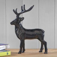 Antique Finish Metal Deer Ornament REDUCED 22 cm high