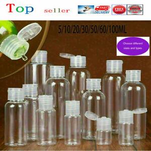 Empty Plastic Bottles Clear Small Travel Flip Caps Liquids Shampoo Bottle Useful