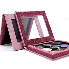 "3.9*3.9"" Empty Magnetic Makeup Palette DIY Eyeshadow Palette Pink Glitter Box"