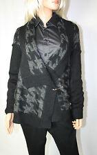 CORA kemperman Designer Cardigan oversize TGL L a maglie grosse nero %%