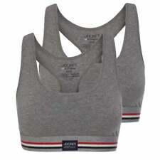 Jockey Womens Coton Stretch 2-Pack Crop Top, Gris pierre