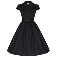 V Neck Party Patternless 50's, Rockabilly Dresses for Women
