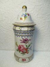 Très joli pot en porcelaine, vintage, Elios, peint à la main