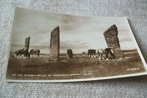 POSTCARD -- AT THE STONE CIRCLE OF STENNESS, ORKNEY ISLES
