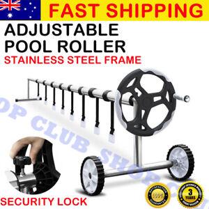 UPGRADED Swimming Pool Cover Roller Reel Adjustable Solar Thermal Blanket AU