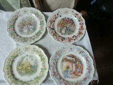 "4 x 8"" Royal Doulton The 4 Seasons Display Plates Brambly Hedge Jill Barklem"