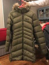 Marmot Women's Montreal Urban Army Down Faux Fur Hood Coat Jacket Large