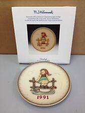 Hummel Annual Plate 1991 In Bas-Relief - 21St Edition, No 287 In Original Box