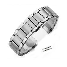 Curved Stainless Steel Bracelet Buckle Replacement Watch Band Strap For AR 22mm