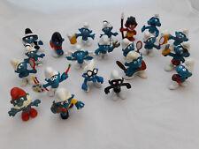Vintage Peyo Smurfs Lot Of 21 PVC West Germany Prehistoric Angry