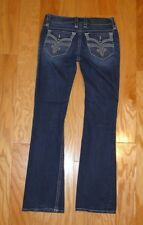 Rock Revival Jeans Denim Size 28 Posey Boot Buckle Distressed Women's