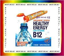 ZipFizz Orange Soda Flavor Healthy Energy Drink Mix w/ Vitamin B12 (30 Tubes)