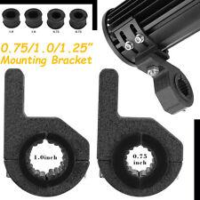 "2x 1.25"" Mounting Bracket Clamps Fog Off Road Tube BullBar LED Light Bar ATV 4WD"