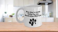 Australian Mist Cat Mug Coffee Tea Paw Print Cat Lover Furbaby Cat Lover Mom Dad