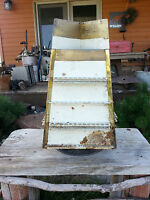 Ball Point pen store display rack, antique vintage--painted over-rusty