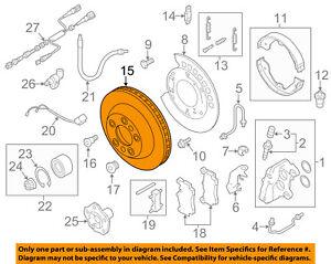 AUDI OEM 07-15 Q7 Rear Brake-Rotor 7L8615601G