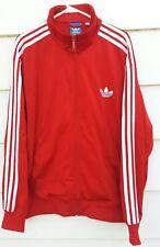 Vintage Adidas Originals Men's Athletic Track Zip Jacket XL Red White Stripe