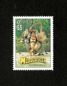 Austria 2005 - Madagascar, DreamWorks Film, Animated - Single Stamp - MNH