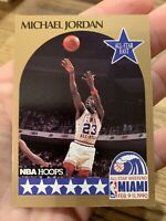 1990 - 1991 Fleer Hoops Michael Jordan Chicago Bulls #5 Basketball Card