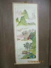 """Vtg Chinese New-Cane Wallscroll 30"""" Tall x 12"""" Wide Made In Thailand NEW IN BOX"""