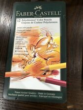 "‼️Brand New - FABER-CASTELL  POLYCHROMOS PENCILS 12 COLOR TIN SET""FREESHIP‼️"