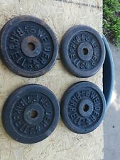 Lot of 4 - 10 lb Cast Iron Weider Barbell Weights - Used - Home Gym