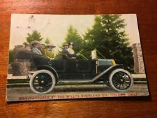 Postcard of Willys-Overland Model 59-T Automobile from Toledo, Ohio. 1912 Post