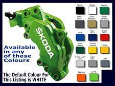 SKODA Premium Brake Caliper Decals Stickers x 6