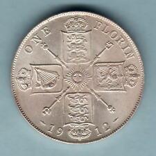 New listing Great Britain. 1912 Florin. Full Lustre - Unc/Bu