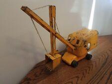 Vintage Wyandotte Metal Crane Excavator, Drag Line Shovel Wood Wheels Rare! LOOK