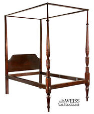 Swc- Mahogany Sheraton Tall Post Bed Salem, c.1790 attrib. to Thomas Whedman