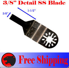 "3/8"" SS Detail Oscillating Multi Tool Saw Blades For Fein Multimaster Dremel"