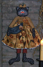 Primitive Raggedy Crow Collector Cat Doll Paper Pattern #188