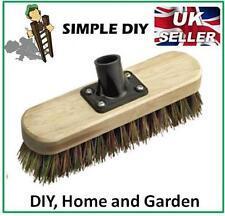 "7"" Yard Deck Scrub Scrubbing Brush Stiff Hard Bristle Outdoor Yard Broom Head"