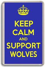 KEEP CALM AND SUPPORT WOLVES, WARRINGTON WOLVES RUGBY LEAGUE TEAM Fridge Magnet