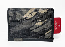 TUMI Men's Alpha Printed Gussed Card Case Wallet Grey Highlands Camo Print NWT