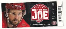 OLD Ticket Saturday Nov.26 2016, Last season @ The Joe, Detroit vs Montreal