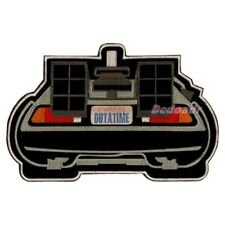 Back to the Future Embroidered Big Patch Time Machine Delorean Back View Flying