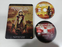 RESIDENT EVIL EXTINCION - 2 X DVD STEELBOOK ESPAÑOL ENGLISH MILLA JOVOVICH - AM