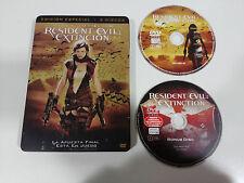Resident Evil Extincion - 2 X DVD Steelbook Spanish English Milla Jovovich - Am