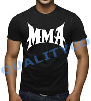 Men's MMA T Shirt Bodybuilding BJJ Fighting Beast Fitness Workout Muscle Gym Tee