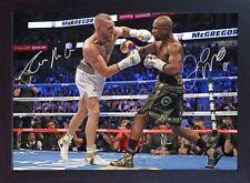 Conor McGregor v Floyd Mayweather Jr Las Vegas 2017 TMT UFC MMA signed Framed #6