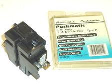NOS! I-T-E SIEMENS PUSHMATIC 15A 2-POLE CIRCUIT BREAKER, TYPE P