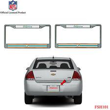 caseys distributing 9474609908 miami dolphins chrome license plate frame - Miami Dolphins License Plate Frame