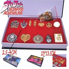 JOJO'S BIZARRE ADVENTURE Neckalce/Keychain Earring Badge Set Metal Pendant+Box