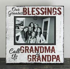 RUSTIC HANDMADE WOOD GRANDCHILD 4 X 6 PICTURE FRAME PHOTO SIGN HOME DECOR 1014