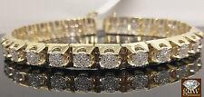 "Genuine 10k Yellow Gold 1.28 CT Diamond 9"" Bracelet,Uniquely Designed, Unisex"
