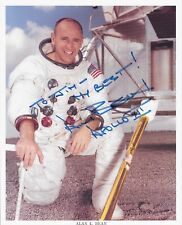 NASA SIGNED AUTOGRAPH ALAN L BEAN WITH CERTIFICATE 10X8