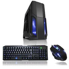CIT Storm Carcasa ATX Negro 1 X 12cm Azul LED Ventilador Frontal + conjunto De Teclado Y Mouse